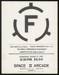 FAITH w/ Youth Brigade, No Labels, Corrosion of Conformity, Committee for Public Safety at Space II Arcade