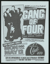 GANG OF FOUR at Bookie's
