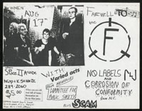 FAITH w/ No Labels, Corrosion of Conformity, Committee for Public Safety, Scam at Space II Arcade