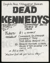 DEAD KENNEDYS w/ Government Issue, Double-O, Faith at GWU Marvin Center