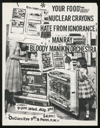 YOUR FOOD w/ Nuclear Crayons, Hate From Ignorance, Manray, Bloody Manikin Orchestra at Oscar's Eye