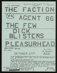 FACTION w/ Agent 86, The Few, Dick Blisters, Pleasurehead at Sons of Norway Hall