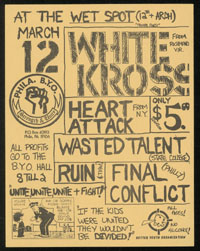 WHITE CROSS w/ Heart Attack, Wasted Talent, Ruin, Final Conflect at the Wet Spot