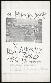 X w/ Alley Cats, Plugz, Zeros, Go-Go's at Elks Lodge