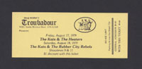 KATS w/ Heaters, Rubber City Rebels at Troubadour 8.17.79