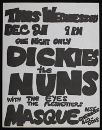 DICKIES w/ Nuns, Eyes, Flesh Eaters at the Masque
