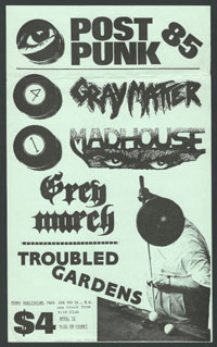 GRAY MATTER w/ Madhouse, Grey March, Troubled Gardens at YWCA