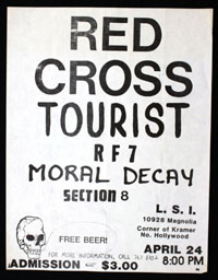 RED CROSS w/ Tourist, RF7, Moral Decay, Section 8 at L.S.I.