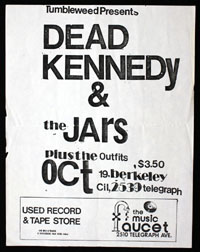 DEAD KENNEDYS w/ Jars, Outfits at Music Faucet