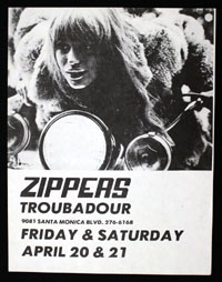 ZIPPERS at Troubadour