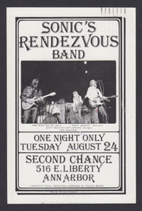 SONIC'S RENDEZVOUS BAND postcard