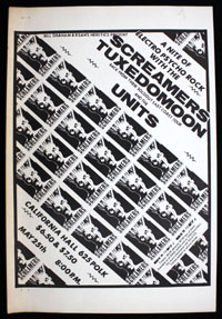 SCREAMERS w/ Tuxedomoon, Units at California Hall