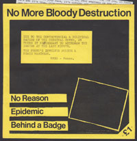 NO MORE BLOODY DESTRUCTION ~ No Reason EP (Crisis Point 1984)
