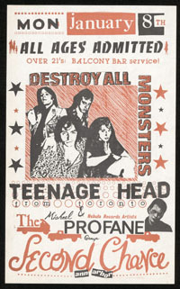 DESTROY ALL MONSTERS w/ Teenage Head, Profane Group at Second Chance