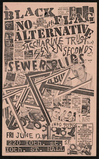 BLACK FLAG w/ No Alternative, Saccharine Trust, 7 Seconds, Sewer Lips at 10th Street Hall