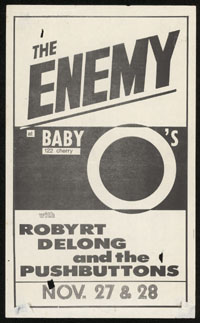 ENEMY w/ Robyrt Delong & The Pushbuttons at Baby O's