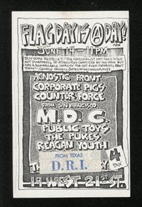 AGNOSTIC FRONT w/ Corporate Pigs, Counter Force, MDC, Public Toys, The Pukes, Reagan Youth, DRI at