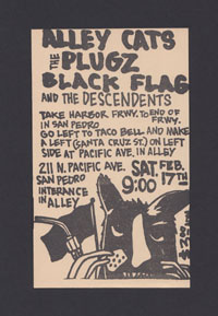 BLACK FLAG w/ Plugz, Alley Cats, Descendents in San Pedro
