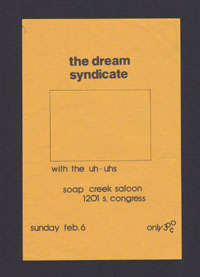 DREAM SYNDICATE w/ Uh-Uhs at Soap Creek Saloon