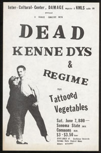 DEAD KENNEDYS w/ Regime, Tattooed Vegetables at Sonoma State Commons