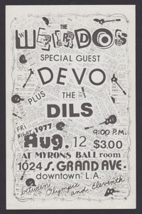 WEIRDOS w/ Devo at Myron's Ballroom