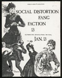 SOCIAL DISTORTION w/ Fang, Faction at Ruthie's Inn