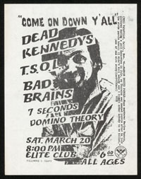 DEAD KENNEDYS w/ TSOL, Bad Brains, 7 Seconds, Domino Theory at Elite Club