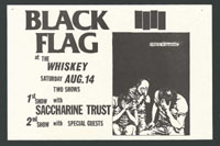 1982 ~ BLACK FLAG at the Whisky (LA)
