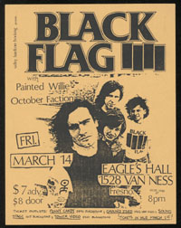 BLACK FLAG w/ Painted Willie, October Faction at Eagle's Hall