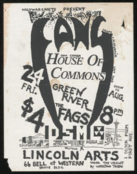 FANG w/ House of Commons, Green River, Fags, DSML at Lincoln Arts