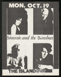 SIOUXSIE & THE BANSHEES at The Island