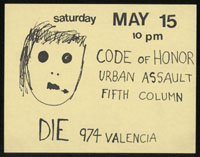 CODE OF HONOR w/ Urban Assault, Fifth Column at Tool & Die