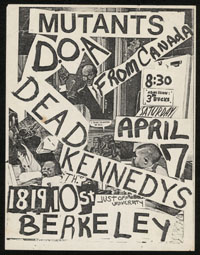 MUTANTS w/ DOA, Dead Kennedys at Mabuhay Gardens
