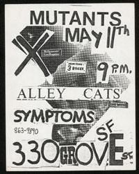 MUTANTS w/ X Alley Cats, Symptoms at 330 Grove