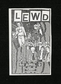 LEWD w/ Social Distortion, Lost Cause at On Broadway