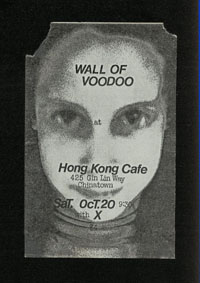 WALL OF VOODOO w/ X at Hong Kong Cafe
