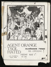 AGENT ORANGE w/ TSOL, Hated at Cuckoo's Nest