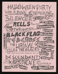 BLACK FLAG w/ Descendents, Urinals, Red Cross + 4 at Kings Palace