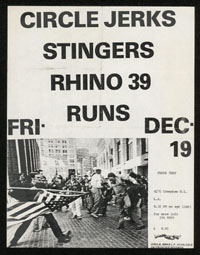 CIRCLE JERKS w/ Stingers, Rhino 39 at That's That