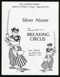 SILVER ABUSE w/ Breaking Circus at Cubby Bear