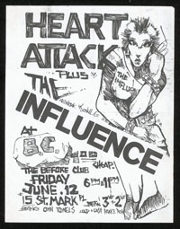 HEART ATTACK w/ Influence at The Before Club