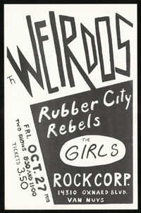 WEIRDOS w/ Rubber City Rebels, Girls at Rock Corporation