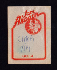 CLASH backstage pass 10.29.79