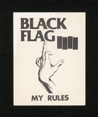 "1982 ~ BLACK FLAG ""My Rules"" STICKER"