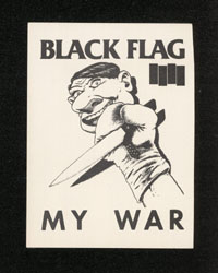 1984 ~ BLACK FLAG My War sticker
