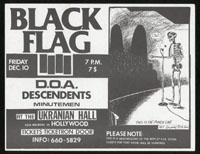 1982 ~ BLACK FLAG at Ukranian Hall (LA)