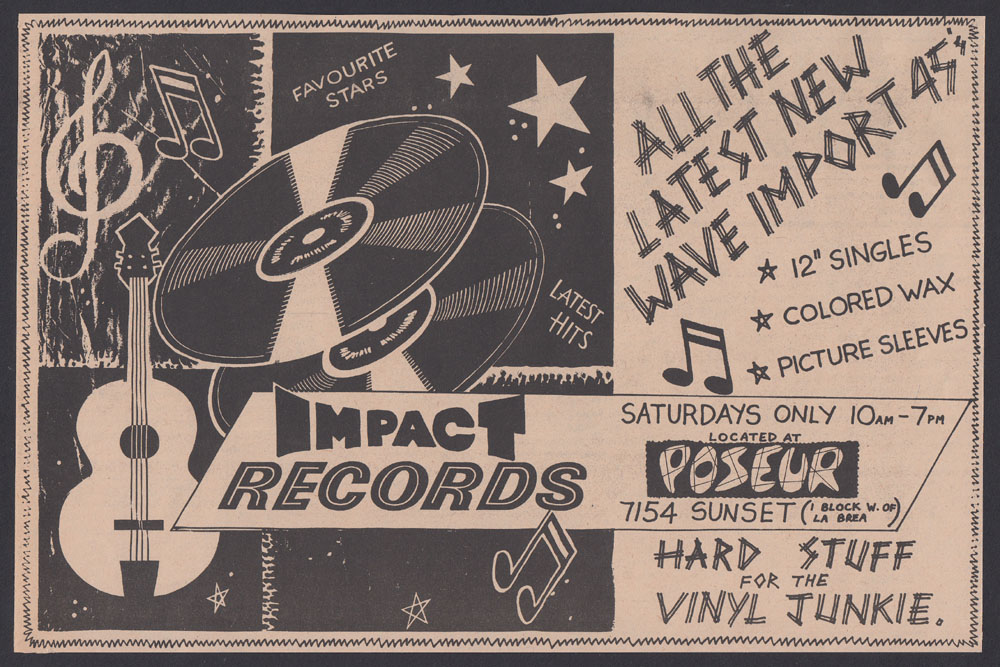 IMPACT RECORDS / POSEUR ad