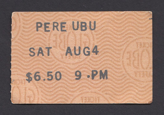 PERE UBU at the Whisky 8.04.79